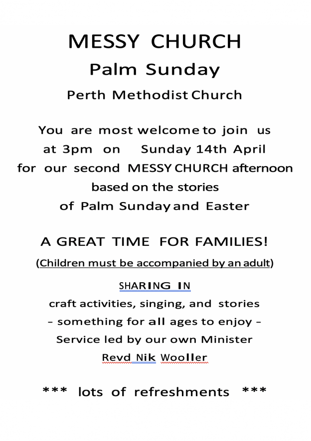 Messy Church On Palm Sunday Perth Action Of Churches Together