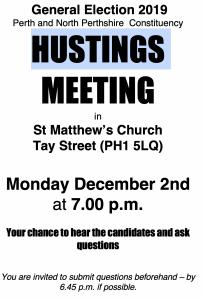 Hustings Meetings @ St Matthew's Church | Scotland | United Kingdom